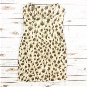 Vintage Escada Leopard Metallic Sheath Dress